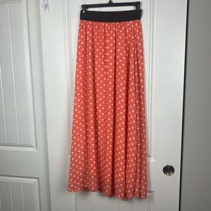 Lularoe polka dot maxi skirt